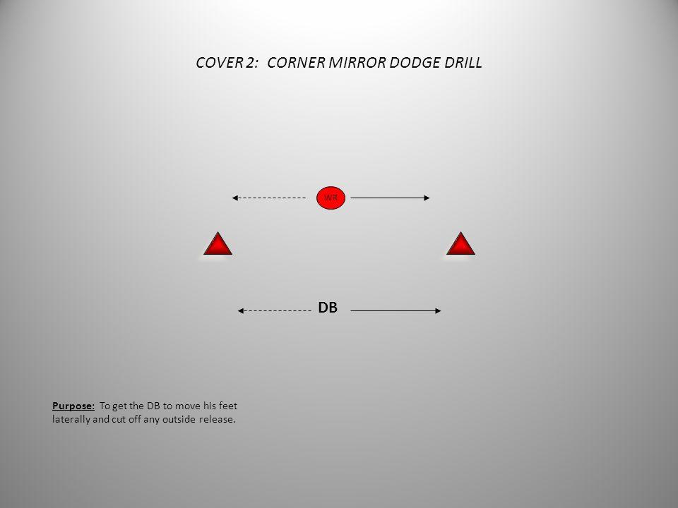 COVER 2: CORNER MIRROR DODGE DRILL