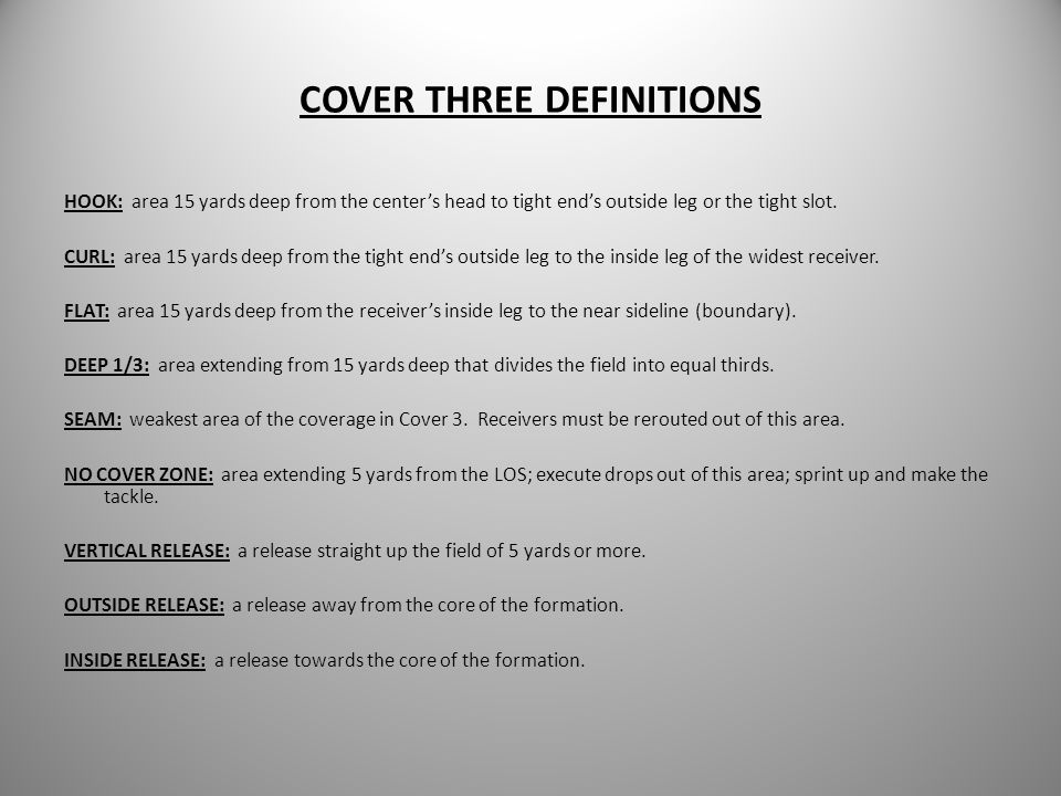 COVER THREE DEFINITIONS