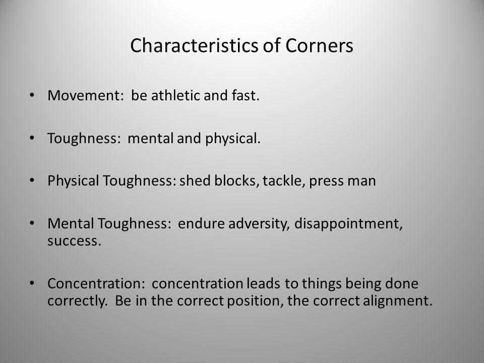 Characteristics of Corners