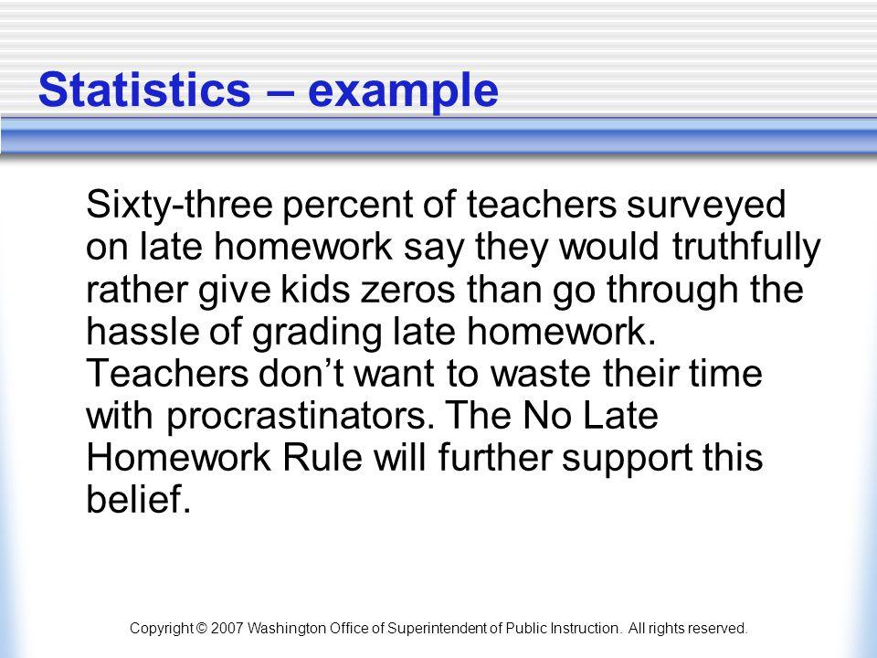 Statistics – example
