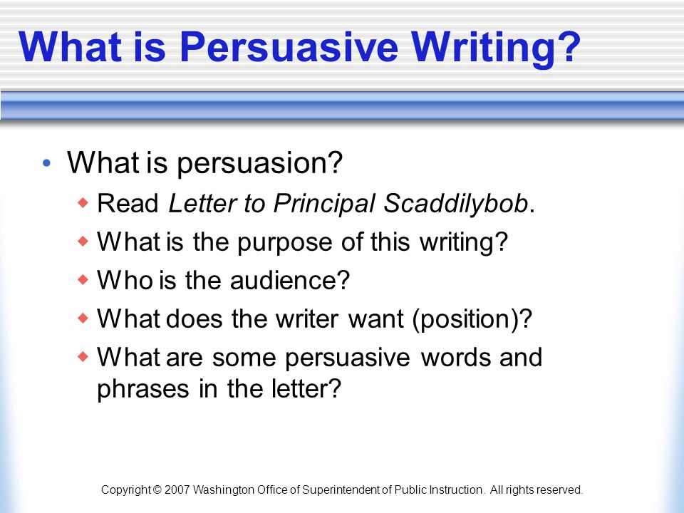 writing process for a persuasive essay