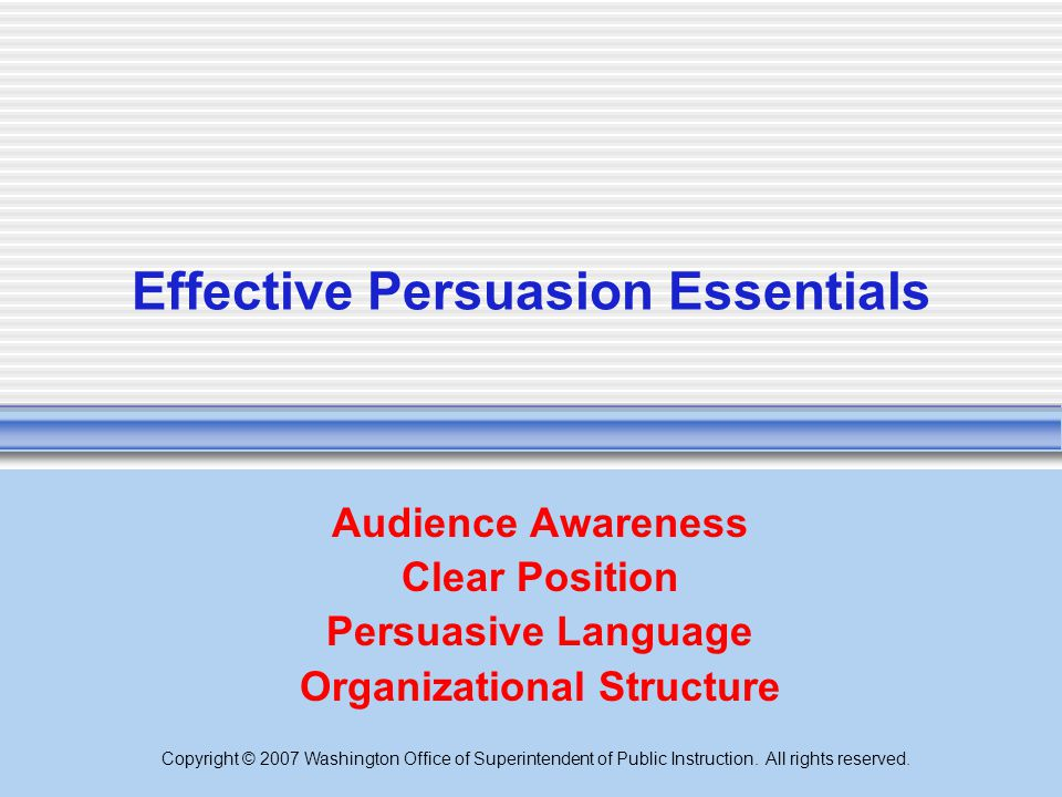 Effective Persuasion Essentials