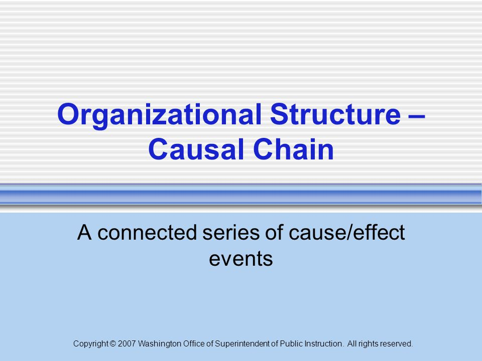 Organizational Structure – Causal Chain
