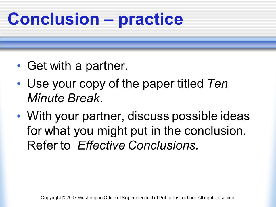 Conclusion – practice Get with a partner.