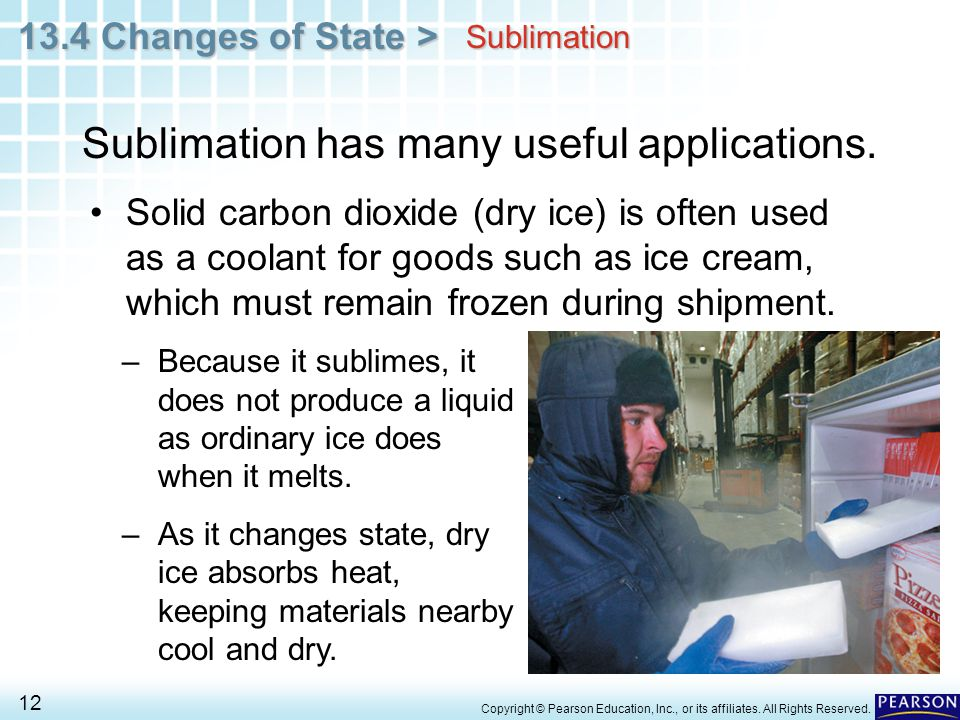 Sublimation has many useful applications.