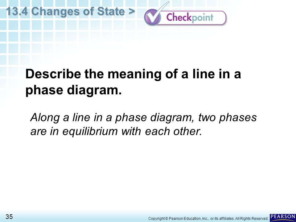 Describe the meaning of a line in a phase diagram.
