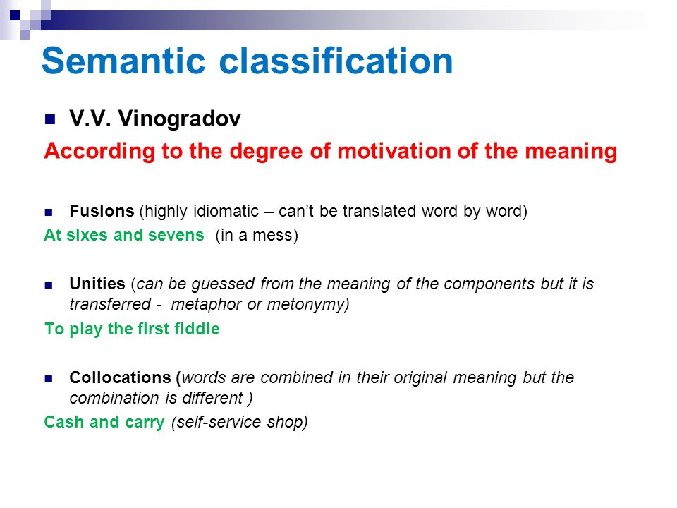 Semantic classification
