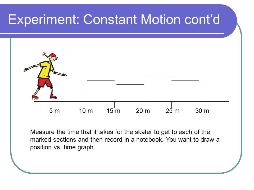 Experiment: Constant Motion cont'd