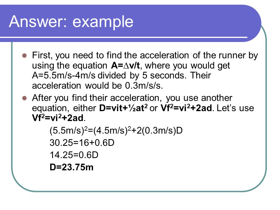 Answer: example