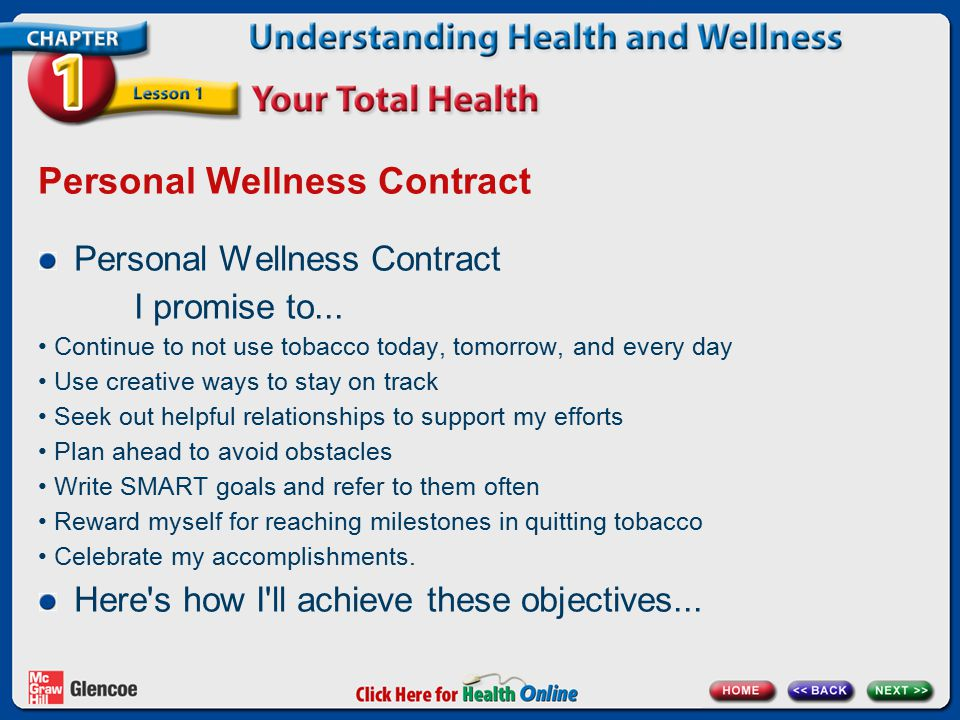 Personal Wellness Contract