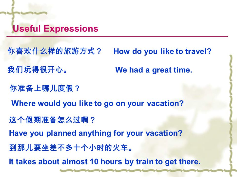 Where would you like to go on your vacation