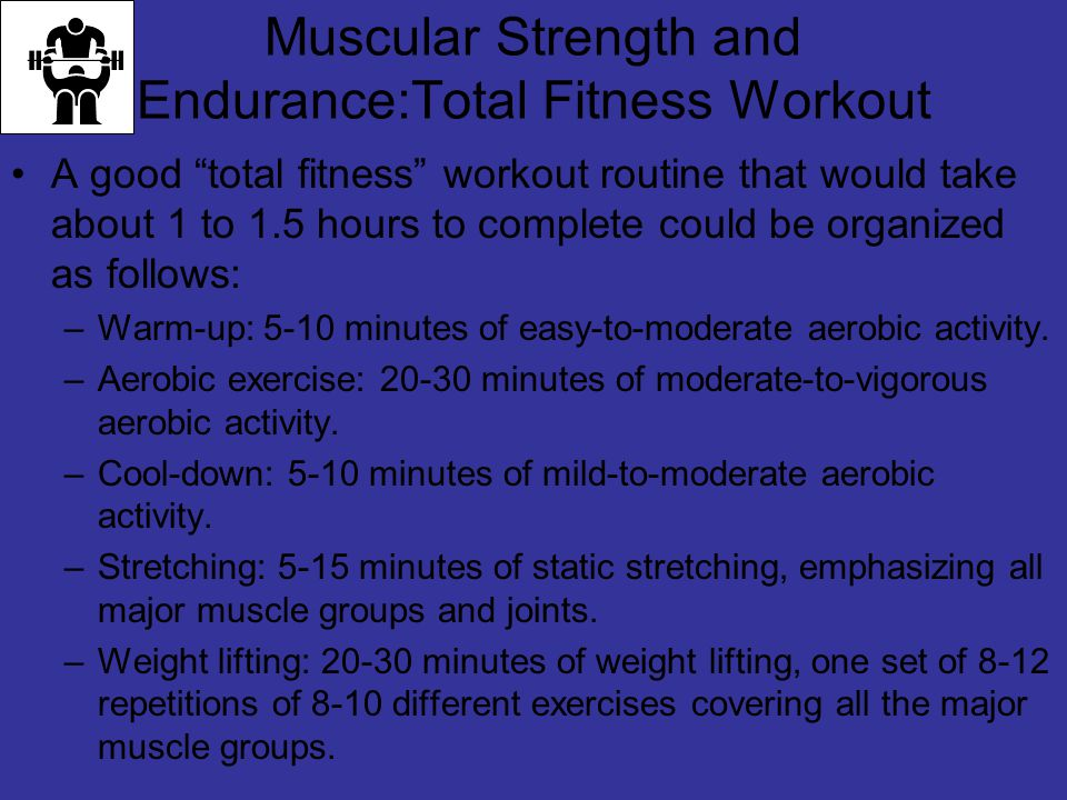 Muscular Strength and Endurance:Total Fitness Workout