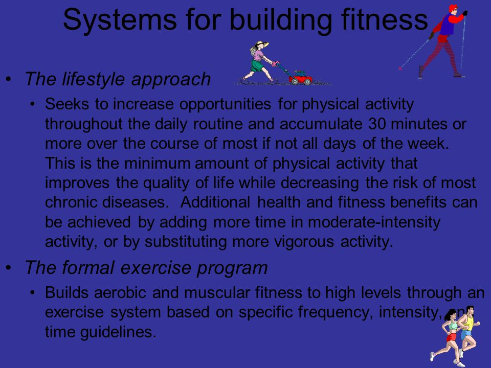 Systems for building fitness
