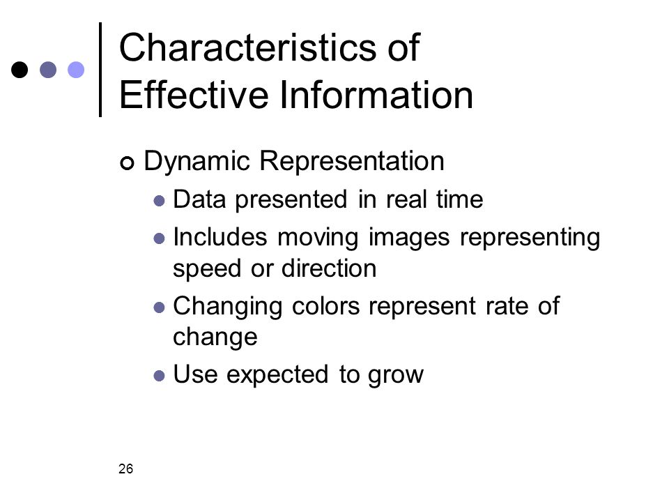 Characteristics of Effective Information