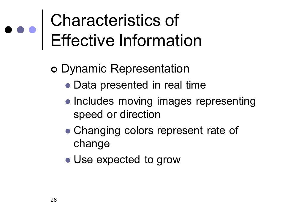 Characteristics of Effective Information