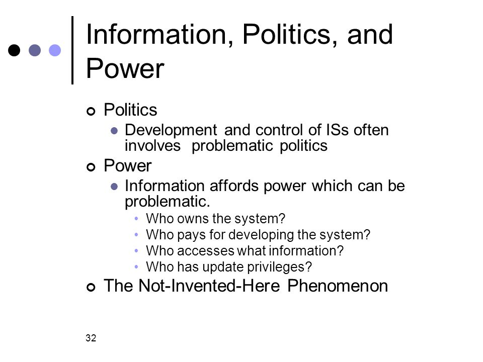 Information, Politics, and Power