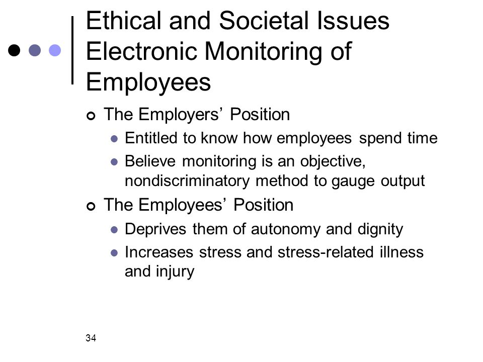 Ethical and Societal Issues Electronic Monitoring of Employees