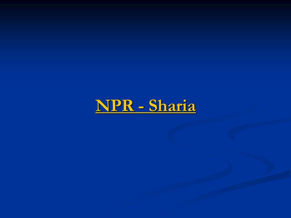NPR - Sharia