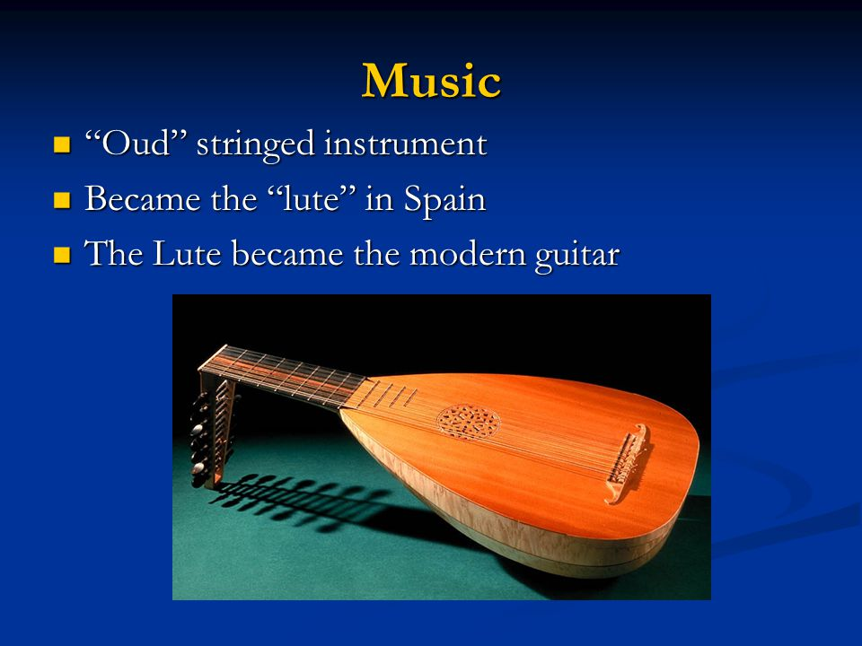 Music Oud stringed instrument Became the lute in Spain