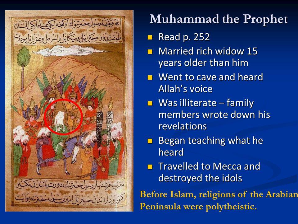 Muhammad the Prophet Read p. 252