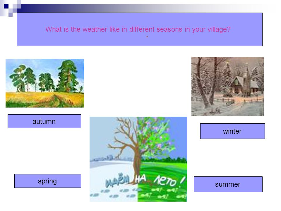 What is the weather like in different seasons in your village
