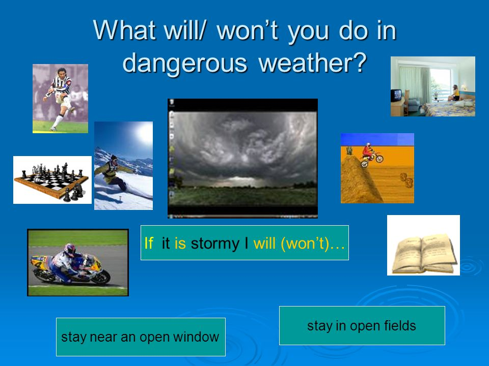 What will/ won't you do in dangerous weather