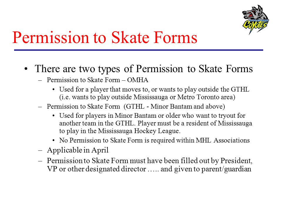 Permission to Skate Forms