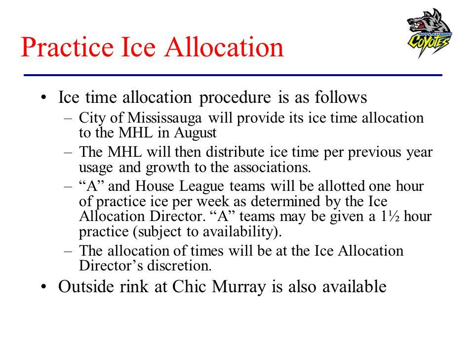 Practice Ice Allocation