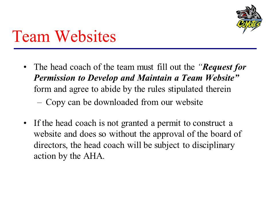 Team Websites