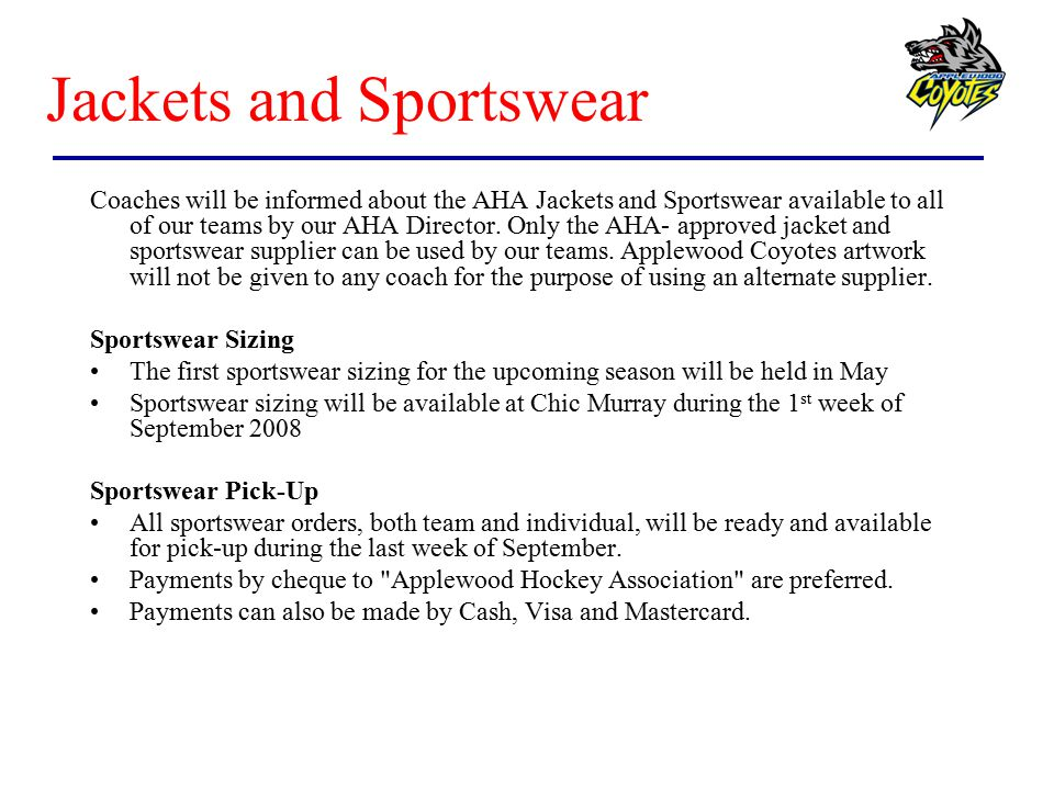 Jackets and Sportswear