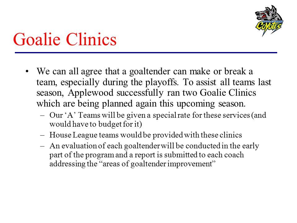 Goalie Clinics