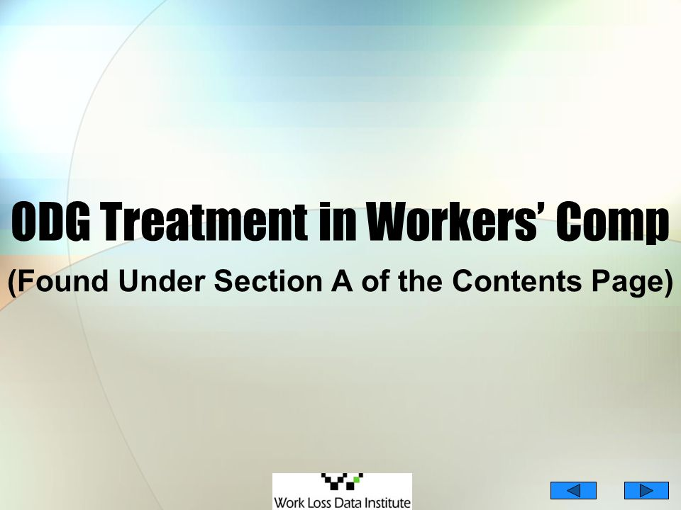 ODG Treatment in Workers' Comp