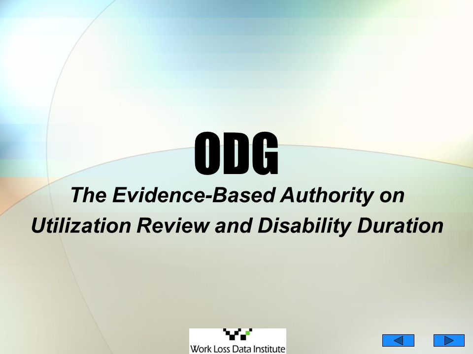 ODG The Evidence-Based Authority on