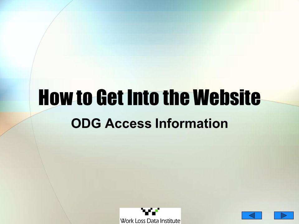 How to Get Into the Website