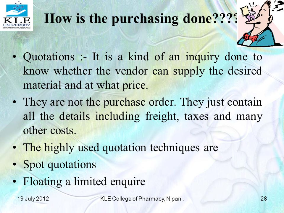 How is the purchasing done