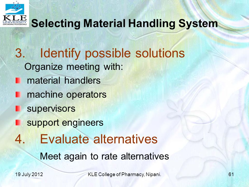 Selecting Material Handling System