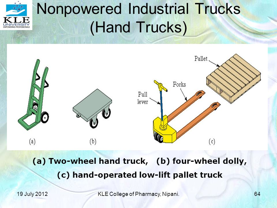 Nonpowered Industrial Trucks (Hand Trucks)