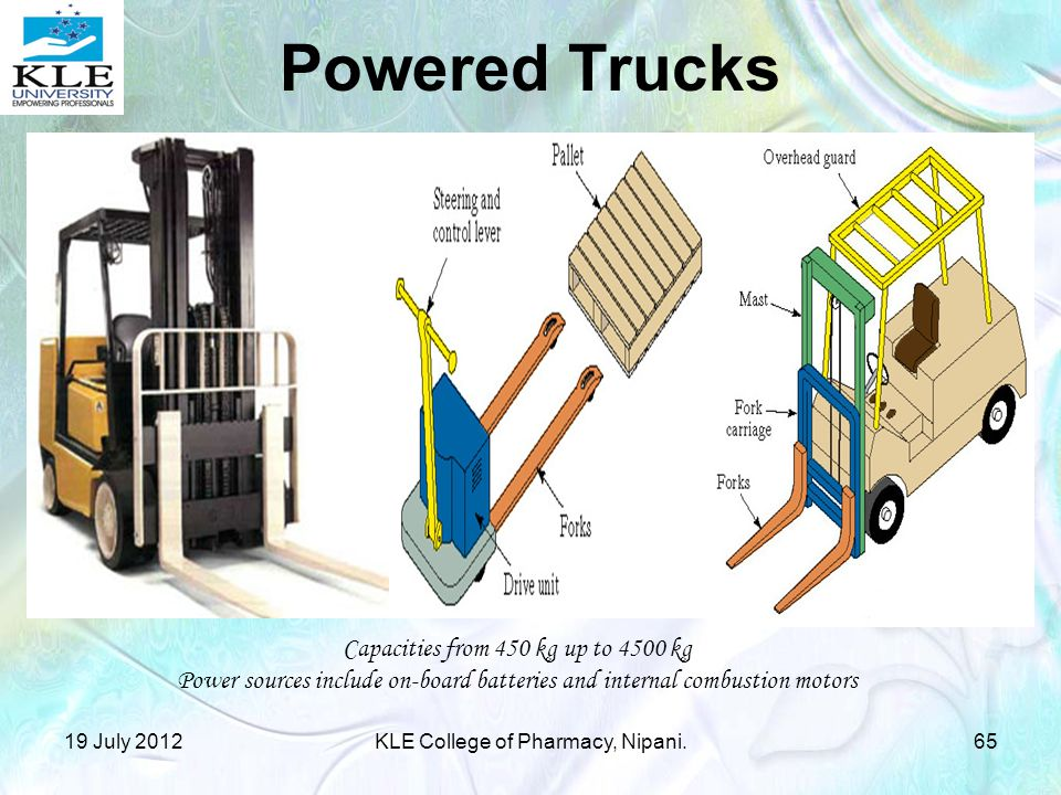 Powered Trucks Capacities from 450 kg up to 4500 kg