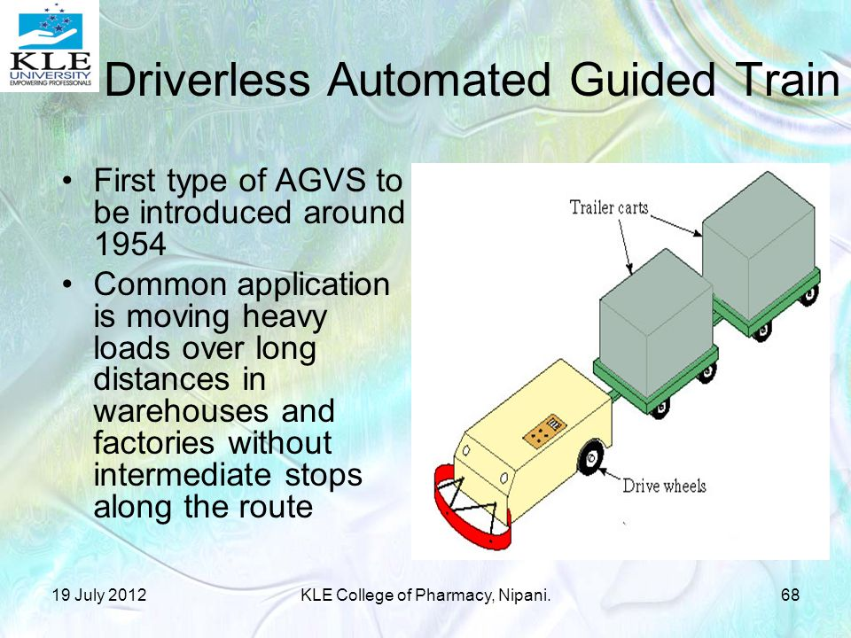 Driverless Automated Guided Train