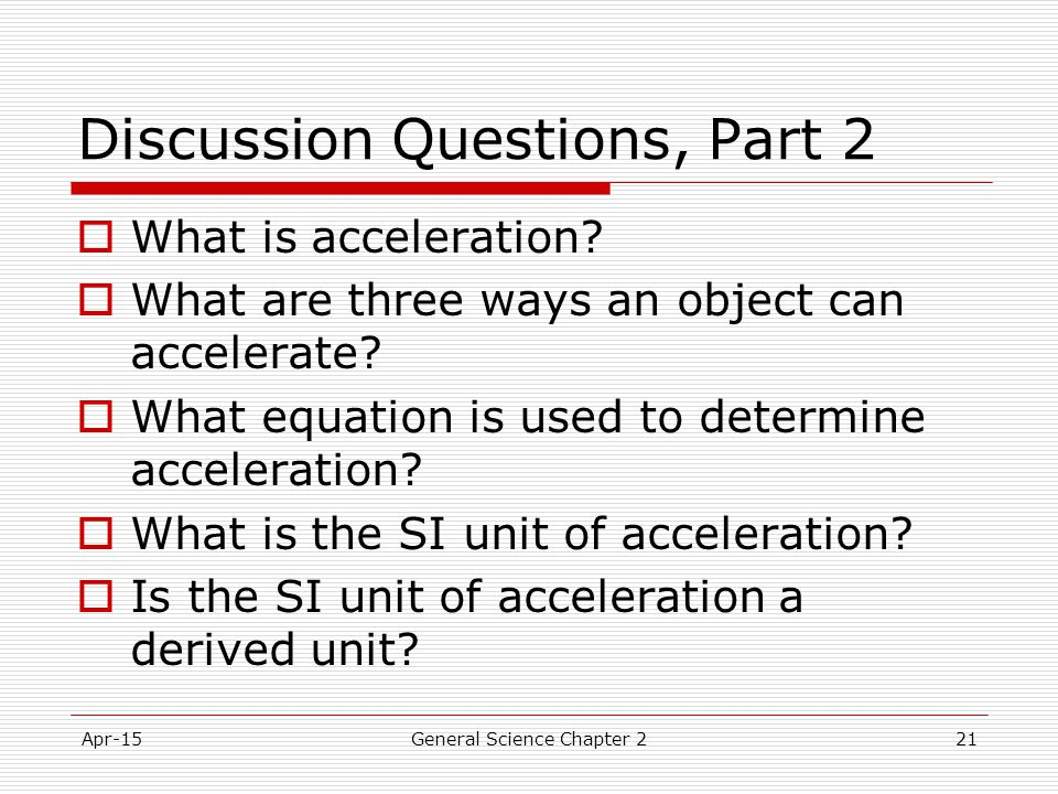 Discussion Questions, Part 2