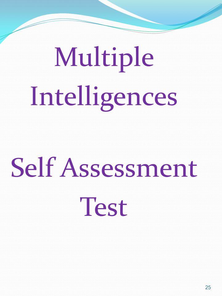 Multiple Intelligences Self Assessment Test
