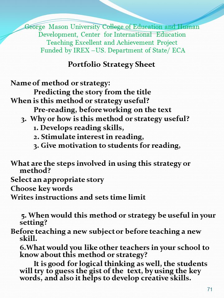 Name of method or strategy: Predicting the story from the title