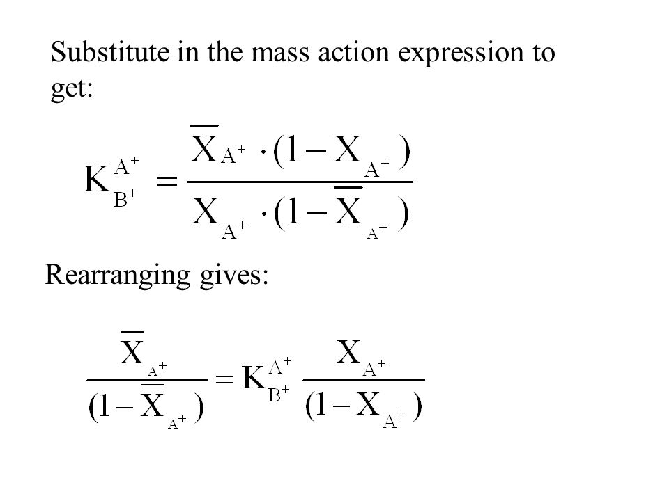 Substitute in the mass action expression to get: