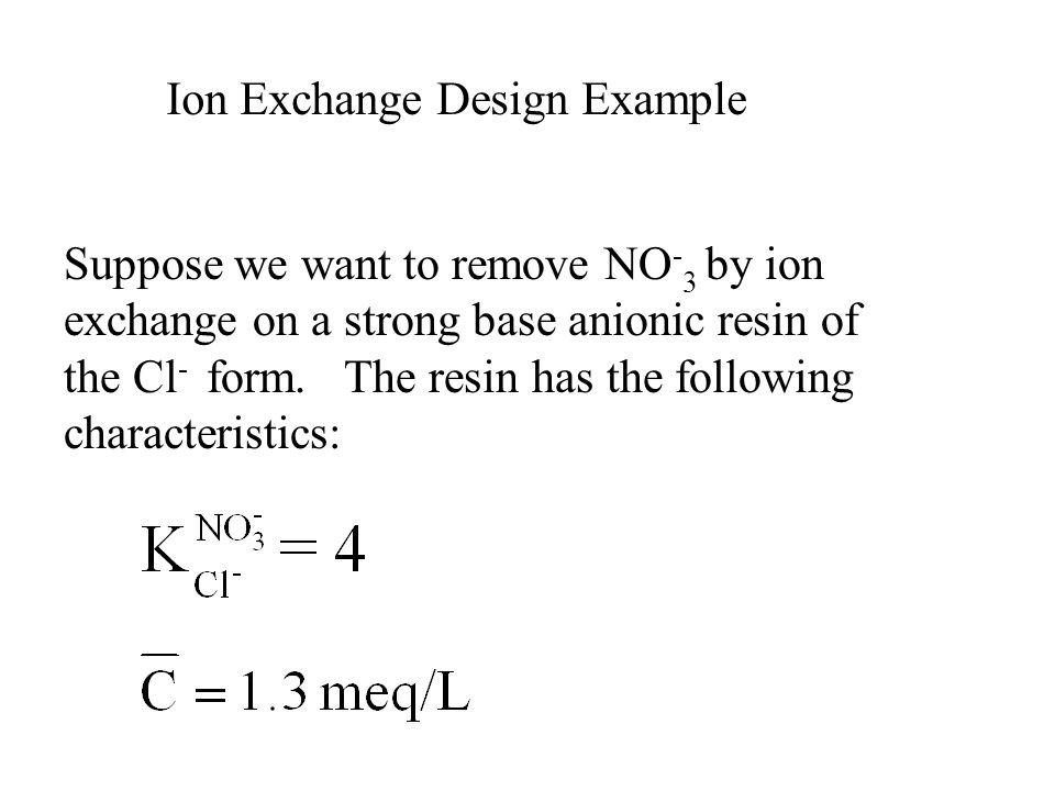 Ion Exchange Design Example