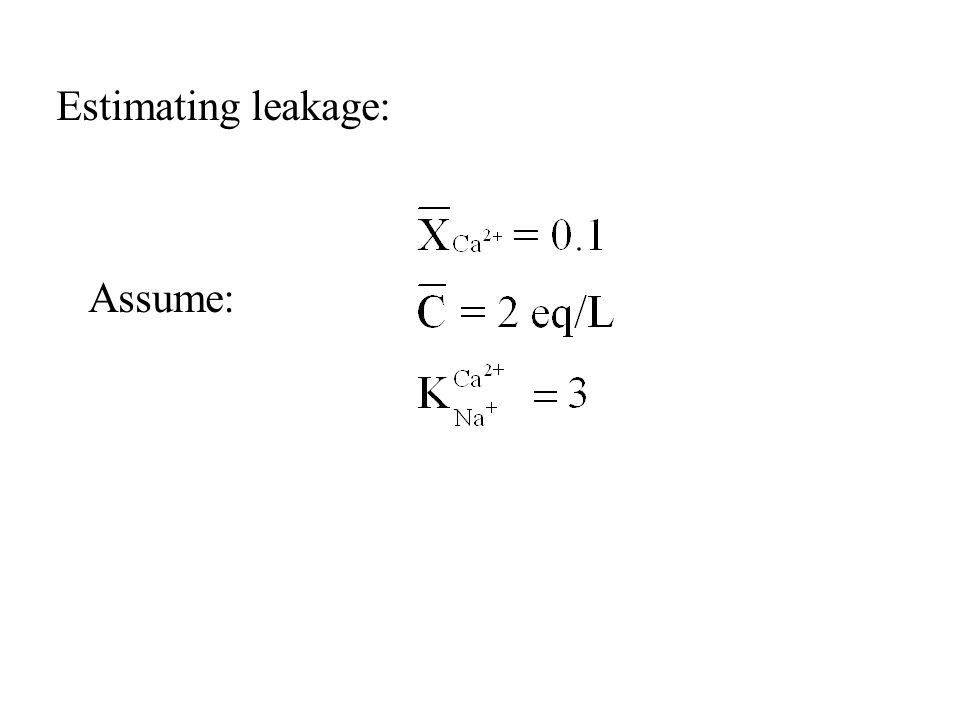 Estimating leakage: Assume: