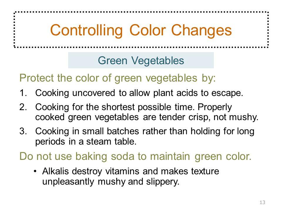Controlling Color Changes