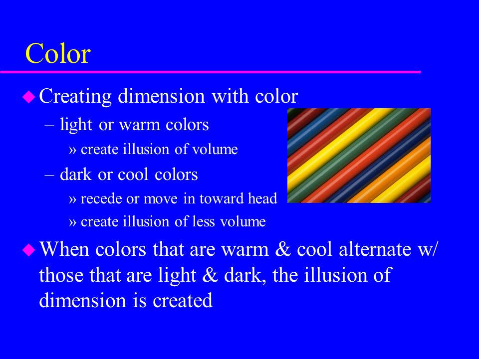 Color Creating dimension with color