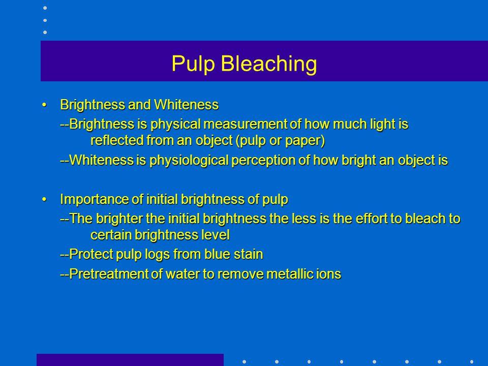 Pulp Bleaching Brightness and Whiteness