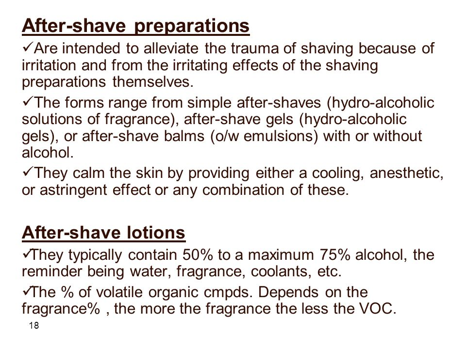 After-shave preparations
