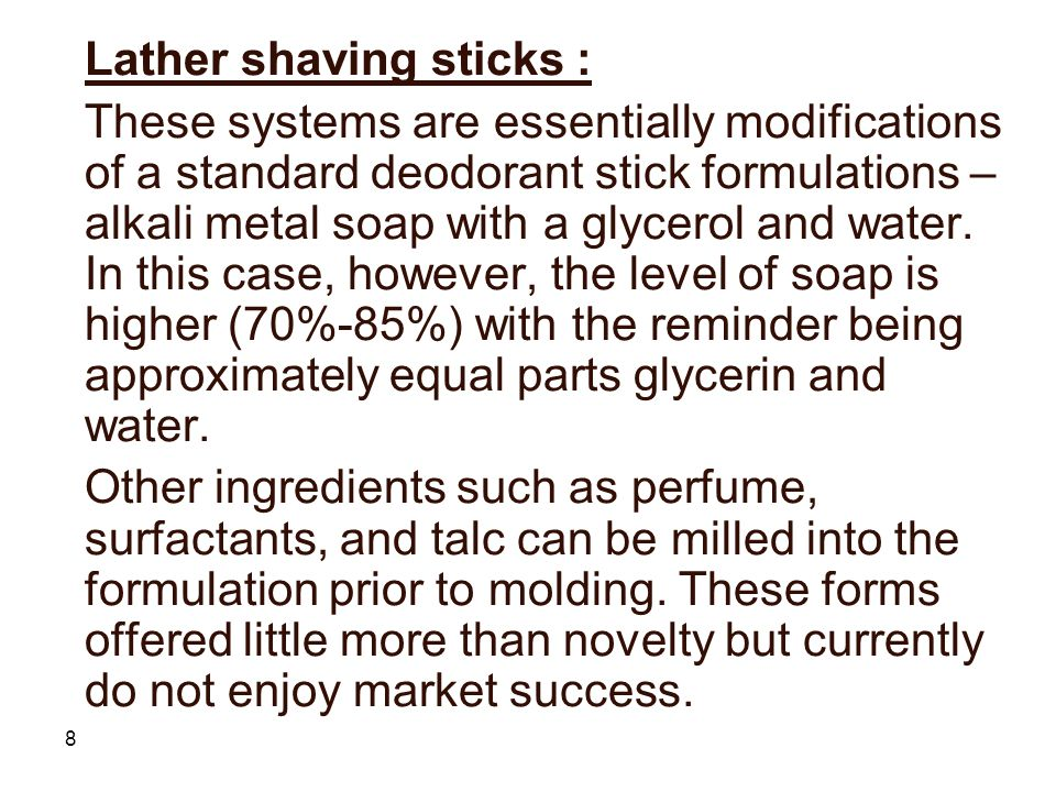 Lather shaving sticks :